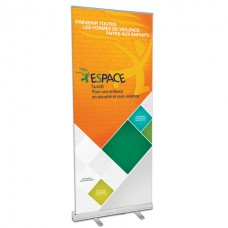 """33.5"""" w x 82"""" h Retractable Banner & Stand"""