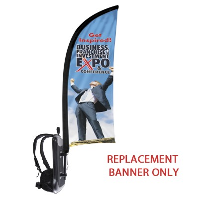 Backback - Replacement Shark Fin Flag Only-Double Sided