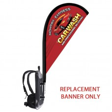 Backback - Replacement Tear Drop Flag Only-Double Sided