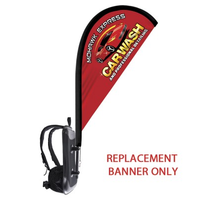 Backback - Replacement Tear Drop Flag Only-Single Sided