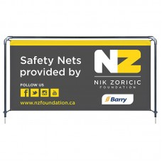 Banner Sling with 4' x 8' Graphic, Spike Base
