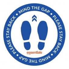 Mind the Gap (blue) - Floor Sticker - 12