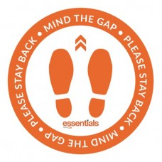 Mind the Gap (orange) - Floor Sticker - 12