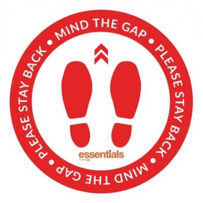 Mind the Gap (red) - Floor Sticker - 12