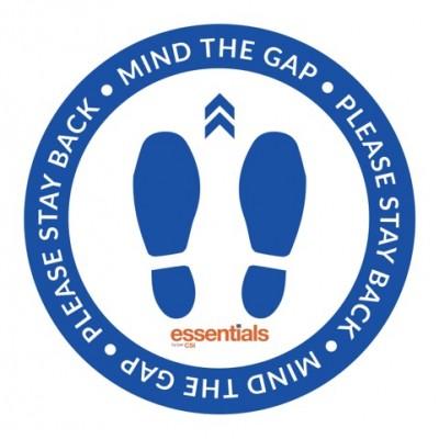 Mind the Gap (blue) - Floor Sticker - 18