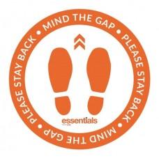Mind the Gap (orange) - Floor Sticker - 18