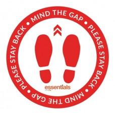 Mind the Gap (red) - Floor Sticker - 18