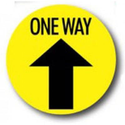 One Way Arrow - Floor Sticker (12 Pack)