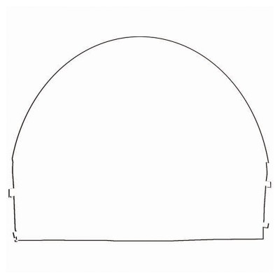 10' x 10' Arched Canopy Wall - Blank