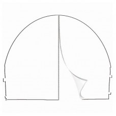 10' x 10' Arched Canopy Wall - Blank Zippered