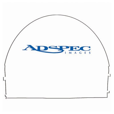 10' x 10' Arched Canopy Wall - 1 Imprint Zippered