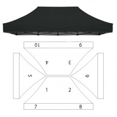 10x15' Replacement Canopy - 10 Imprint Locations