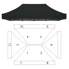 10x15' Replacement Canopy - 11 Imprint Locations