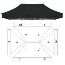 10x15' Replacement Canopy - 12 Imprint Locations