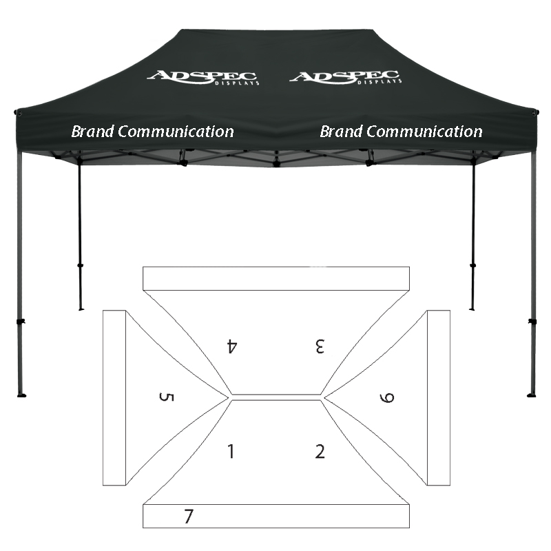 10\' x 15\' HD Canopy and Frame - 7 Imprint Locations