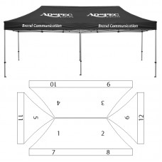 10' x 20' HD Canopy and Frame - 12 Imprint Locations
