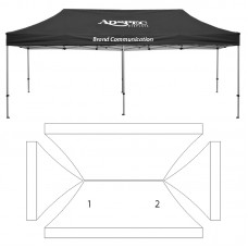 10' x 20' HD Canopy and Frame - 2 Imprint Locations