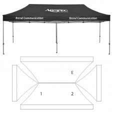 10' x 20' HD Canopy and Frame - 3 Imprint Locations