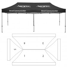 10' x 20' HD Canopy and Frame - 5 Imprint Locations