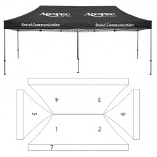 10' x 20' HD Canopy and Frame - 7 Imprint Locations