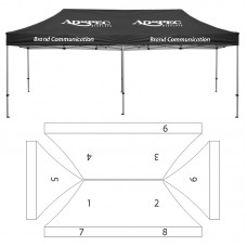 10' x 20' HD Canopy and Frame - 9 Imprint Locations