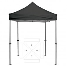 8' Square Tent - 4 Imprint Locations