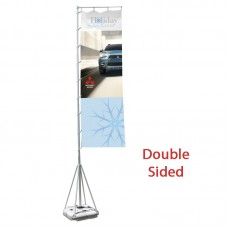 17' Double Sided Flag and Base