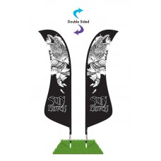 13' Blade Wind Flag Only - Double Sided