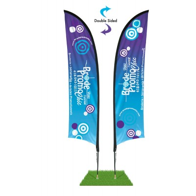 9' Shark Fin Wind Flag Kit - Double Sided