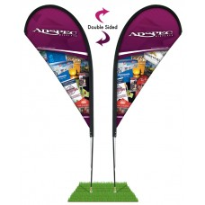 6' Teardrop Wind Flag Only - Double Sided