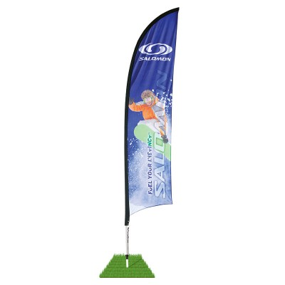 9' Shark Fin Wind Flag Kit - Single Sided