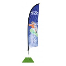 7' Shark Fin Wind Flag Only - Single Sided
