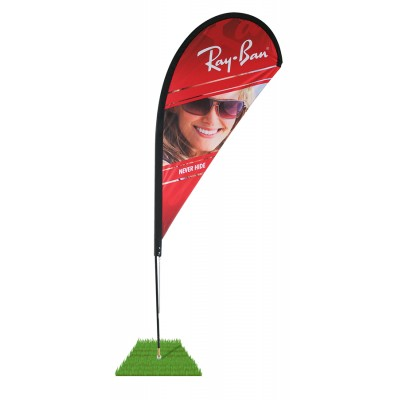 8' Tear Drop Wind Flag Kit - Single Sided